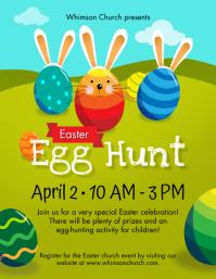 Easter Egg Hunt Volantino (US Letter) template