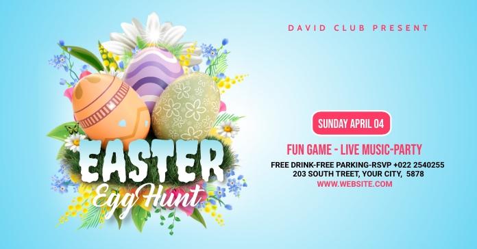 Easter Egg Hunt Facebook Ad template