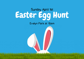 Easter Egg Hunt A4 template