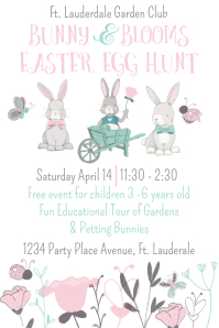 Easter Egg Hunt Event Bunny and Flower Poster โปสเตอร์ template