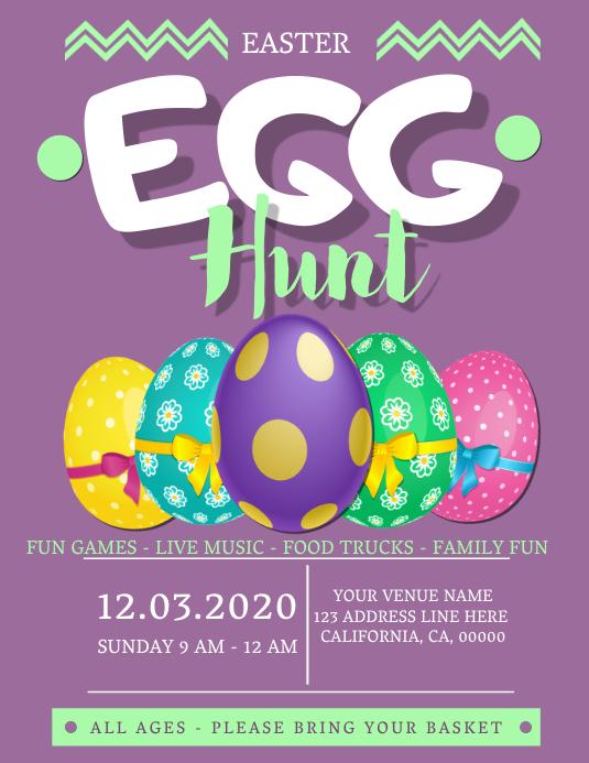 Easter Egg Hunt Event Flyer Template