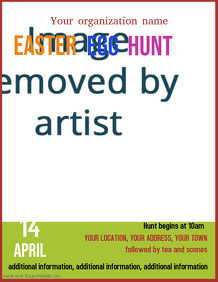 Easter Egg Hunt event poster flyer template