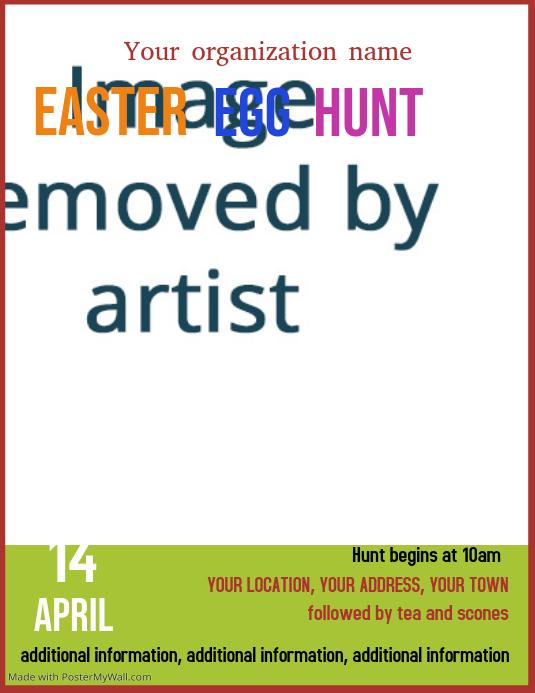 Easter Egg Hunt event poster flyer template