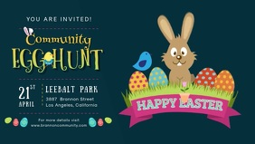 Easter Egg Hunt Facebook Banner Video