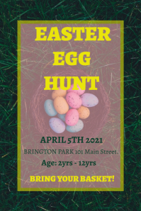Easter egg hunt flyer Plakat template