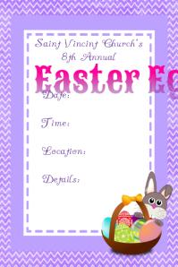 Easter Egg Hunt Flyer Poster Announcement
