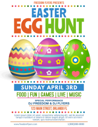Easter Egg Hunt Flyer Template Design