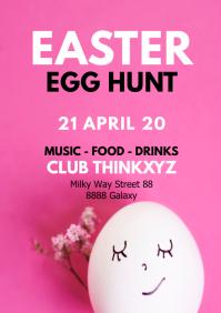 Easter egg Hunt Flyer template event Poster