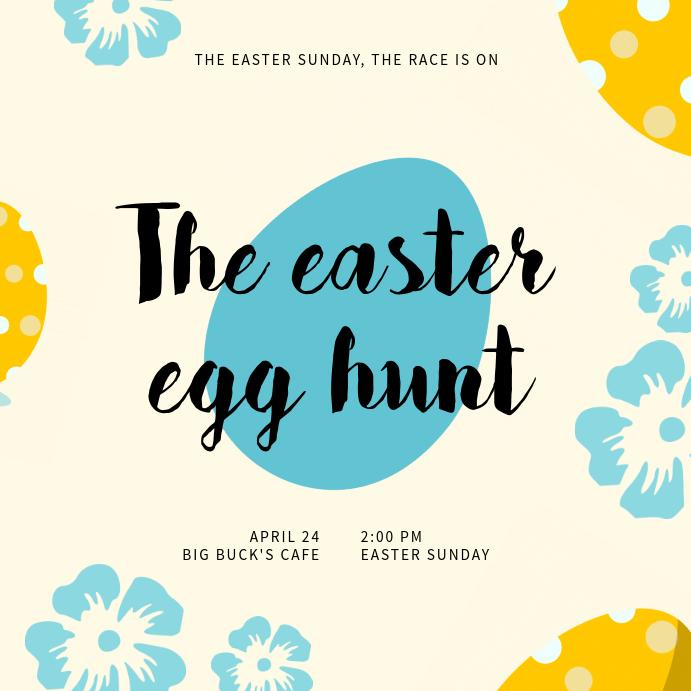 Easter Egg Hunt Instagram Template