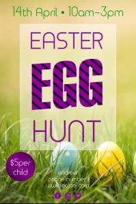Easter egg hunt invitation Plakat template