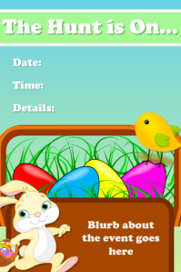 Easter Egg Hunt Invitation Event Flyer Poster Announcement template