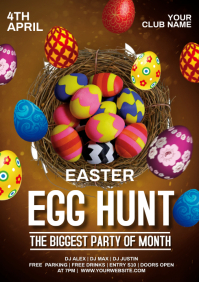 easter egg hunt party A4 template