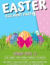 Easter Egg Hunt Party Flyer Template Folder (US Letter)