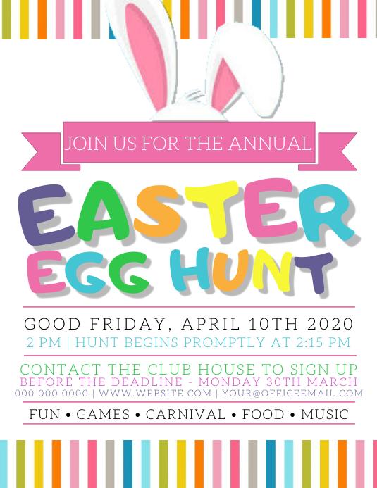 Easter Egg Hunt Party Flyer Template