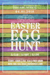 Easter Egg Hunt Pastel Wood Sign Spring Retail Event Party