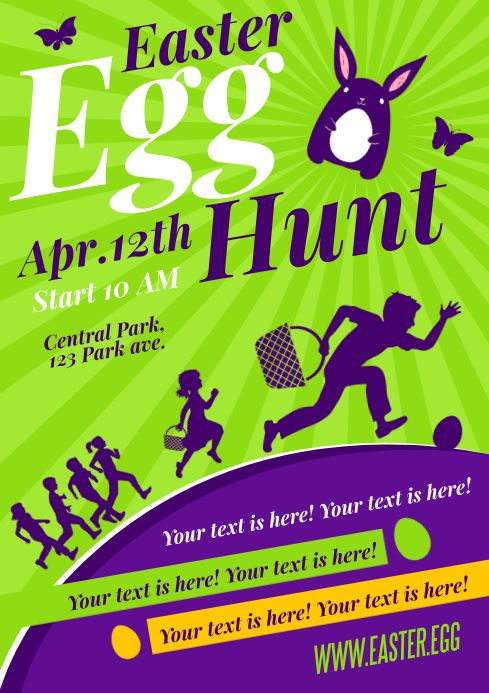 EASTER EGG HUNT POSTER A4 template