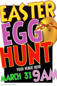 Easter Egg Hunt Poster Flyer