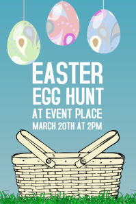 easter egg hunt poster template
