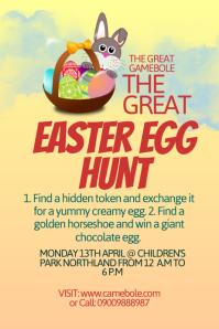 Easter Egg Hunt Poster Template