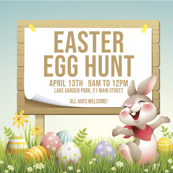 easter egg hunt template Instagram Post