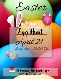 easter egg hunt template/flyer