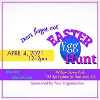 Easter Egg Hunt Video Square (1:1) template