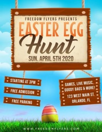 Easter Egg Hunt Video Flyer Template Folder (US Letter)