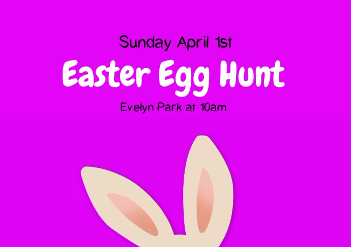 Easter Egg Hunt Video template A4