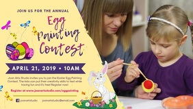 Easter Egg Painting Contest Facebook Banner Video