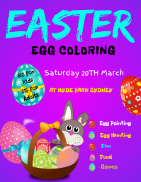 easter egg painting flyer
