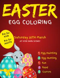 easter egg painting flyer
