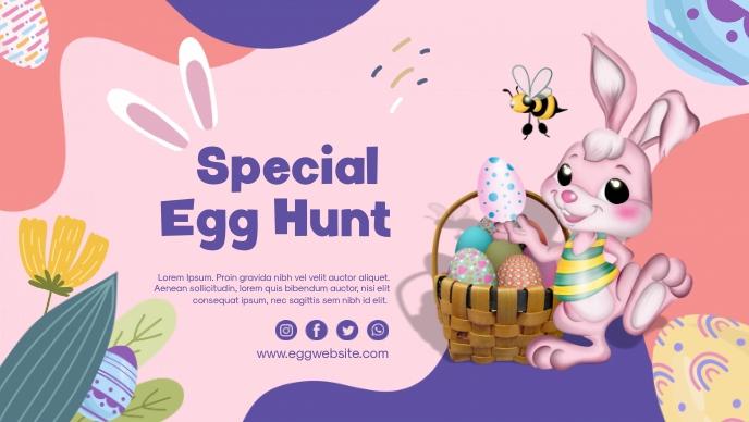 Easter Egg Special Facebook-omslagvideo (16:9) template