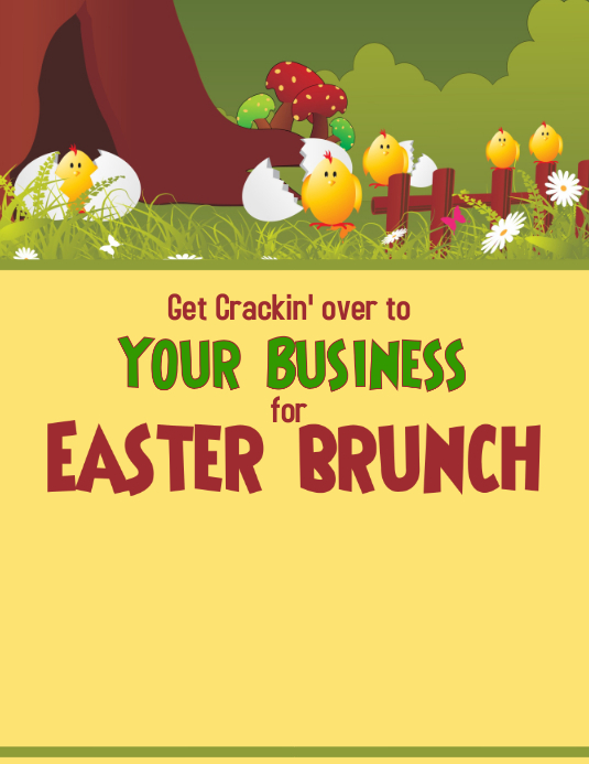 Easter Event Flyer (US Letter) template