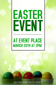 easter event poster template