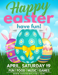 Easter Event Flyer Template Design