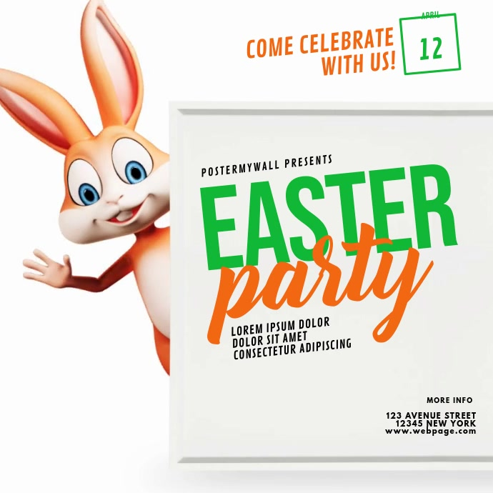 Easter Event Instagram video Instagram-bericht template