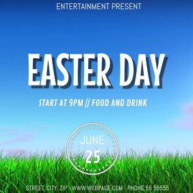 Easter Event party video flyer template Square (1:1)