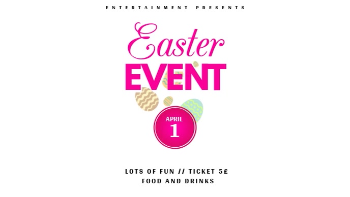 Easter Event video template for instagram