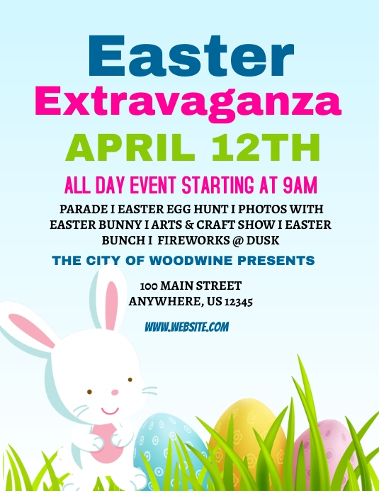 Classroom Design Tools ~ Easter extravaganza event template postermywall