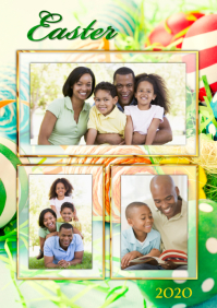 Easter Family Collage A4 template