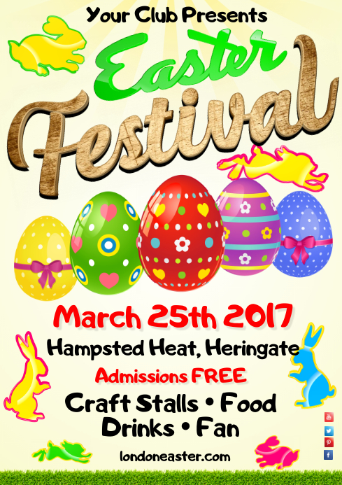 Easter Festival Poster A4 template