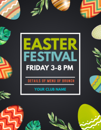 Easter festival flyers
