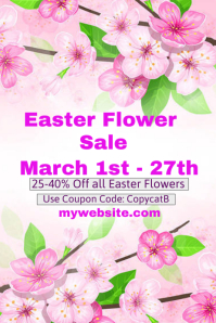 Easter Flower Sale Event Template