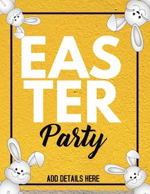 Easter flyer,event flyer