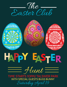 Easter flyer,event flyer