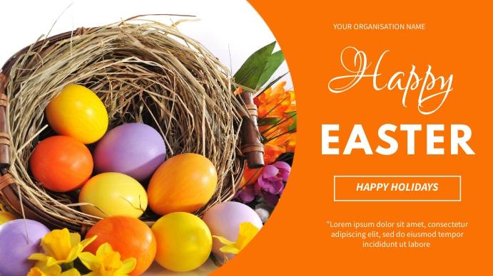 Easter flyer Tampilan Digital (16:9) template