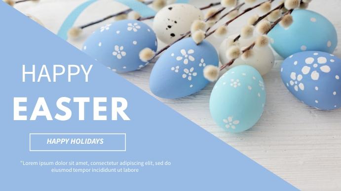 Easter flyer Digitalt display (16:9) template