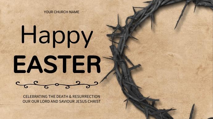 Easter flyer Display digitale (16:9) template
