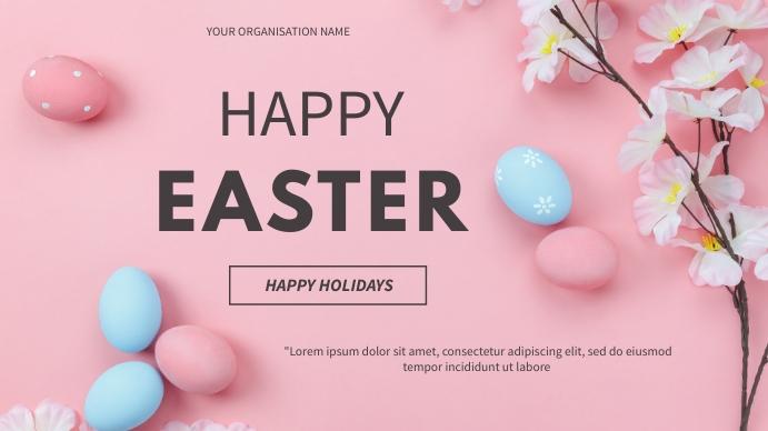 Easter flyer Digital na Display (16:9) template