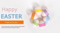 Easter flyer Pantalla Digital (16:9) template